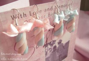 Marshmallow earrings II by Nika-N