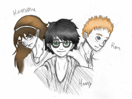 The Golden Trio by tieknots