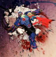 Supergirl vs. Darkseid by maxx0