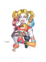 Suicide Squad Harley Sketch by RichardHuante