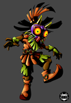 Skull kid by spiderweber