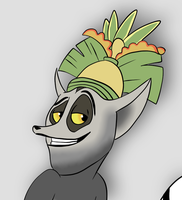 King Julien smirk (cropped drawing) by KingJulienFangal
