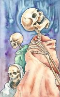 Three Skeletons by RachelLaughman
