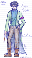 Sketches Meme 1 - Auror Potter by ladysugarquill
