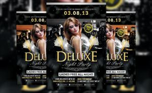 FREE Deluxe Night Party | Flyer Template by LouisTwelve-Design