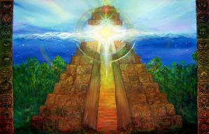 Oh Mayan God by KellyDelRosso