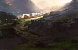 Light through the Pass by noahbradley
