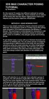 3DS Max character posing tutorial by toneloperu
