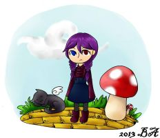 Little girl in a little world by Blackrose-Assasin