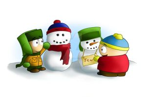 South Park Kyle and Cartman by SouthParkPhilosopher
