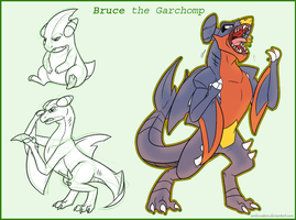 Garchomp Bruce by Arcticwaters