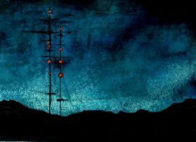Radio Tower Dusk by erstadus