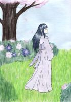 Hinata - Walking in the garden by Huudel