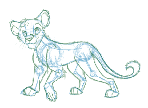 Sketchy Lion Lines by mew83