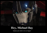 Optimus and Bayformers Demotivational by menslady125