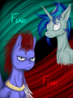 The 2 Flares by Masdragonflare