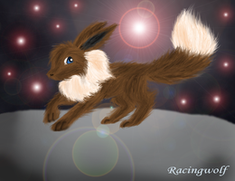 Night Eevee by racingwolf
