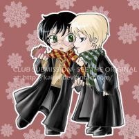 Commission-Chibi HarryDraco by potterart