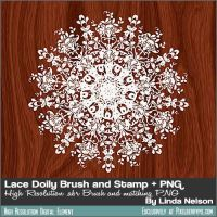 Doily Lace Brush and PNG for PS, Gimp, others... by pixelberrypie