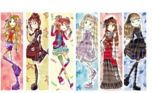 J-fashions bookmarks by Soji-chan