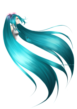 Miku quick paint by Marryhime94