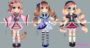 ADOPTABLE Batch 1 (OPEN) by MilkyWay-Galaxy