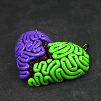 I Heart Brains BFF Set purple by beatblack
