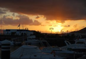 Sunset, Lanzarote by BEH1NDTHET1MES