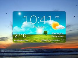 GS3 Clock Weather Widget HD for xwidget (UPDATED) by jimking