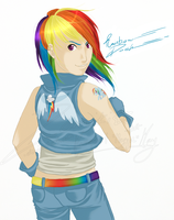 F - Rainbow Dash by Zemiki