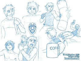 Leon sketches - page 2 by funkyalien
