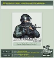Counter-Strike: Source Icon v4 by CODEONETEAM