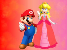 Mario and Peach in Love Wallpaper by 9029561