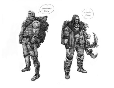 Wolverine and Sabretooth re-designed by torei