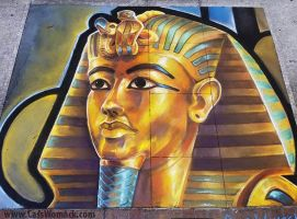King Tut Chalk Art by charfade
