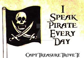 I Speak Pirate Every Day by CaptTreasureTroveTi
