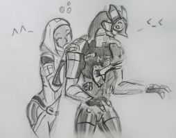 sketches Tali/Legion (4) by spaceMAXmarine