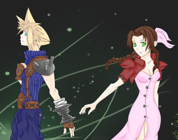 Cloud and Aerith by Seraph-Stray
