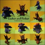 Casbat and Finbat Figurines by lira-chan