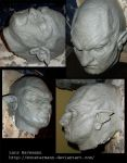 orc latex mask WIP by Monstermann