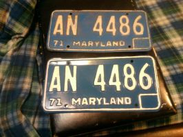 1971 maryland plates before and after by USCGCitasca