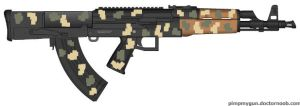 Bullpup AK-47 Digitally Camoed by GeneralTate