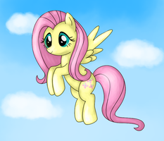 Old Fluttershy drawing by Tamabelle
