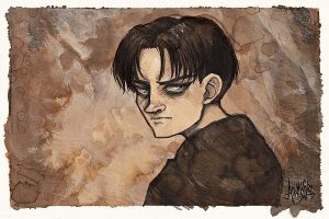Levi coffee painting (UPD8: redbubble prints) by arumise