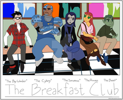 The Breakface Club with background by ColdHeartedCupid
