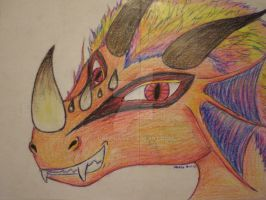 red dragon smirk by Drerika