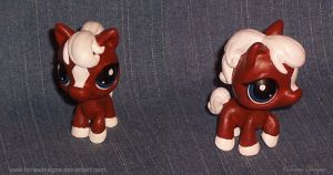 Littlest Pet Shop EPONA Zelda Custom OOAK by TorresDesigns