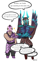 magina and terrorblade by NimblerScout
