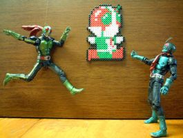 masked_rider_jumping by danny-8bit