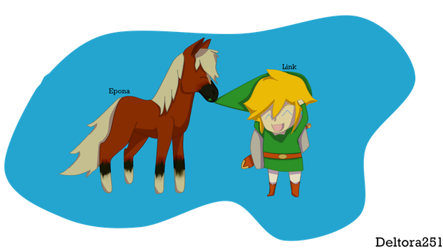 Epona and Link LOZ fanart by Deltora251